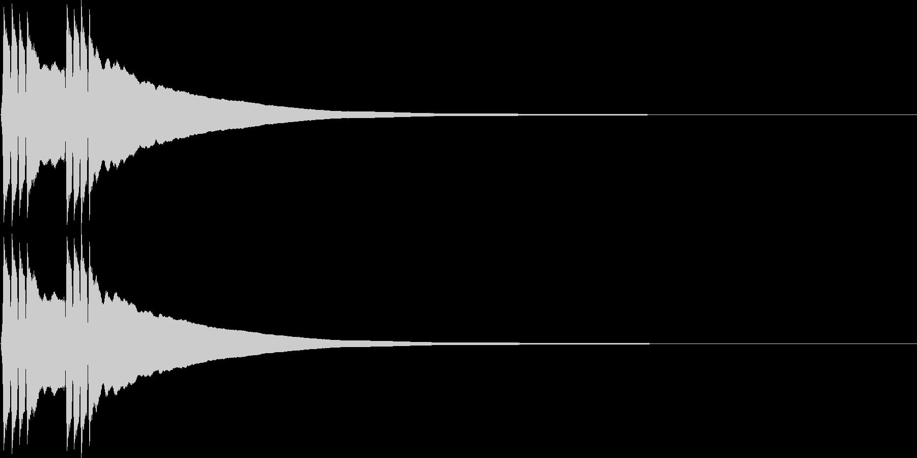 リンリン。自転車のベルA(高)の未再生の波形