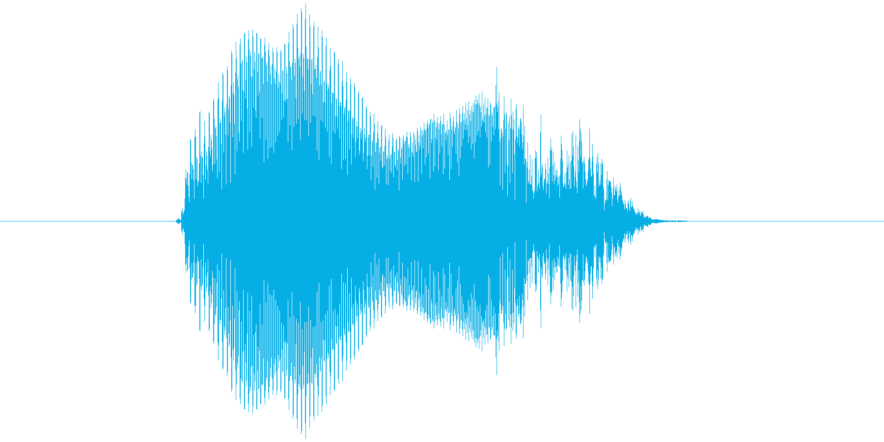 「ん・まっ!」の再生済みの波形