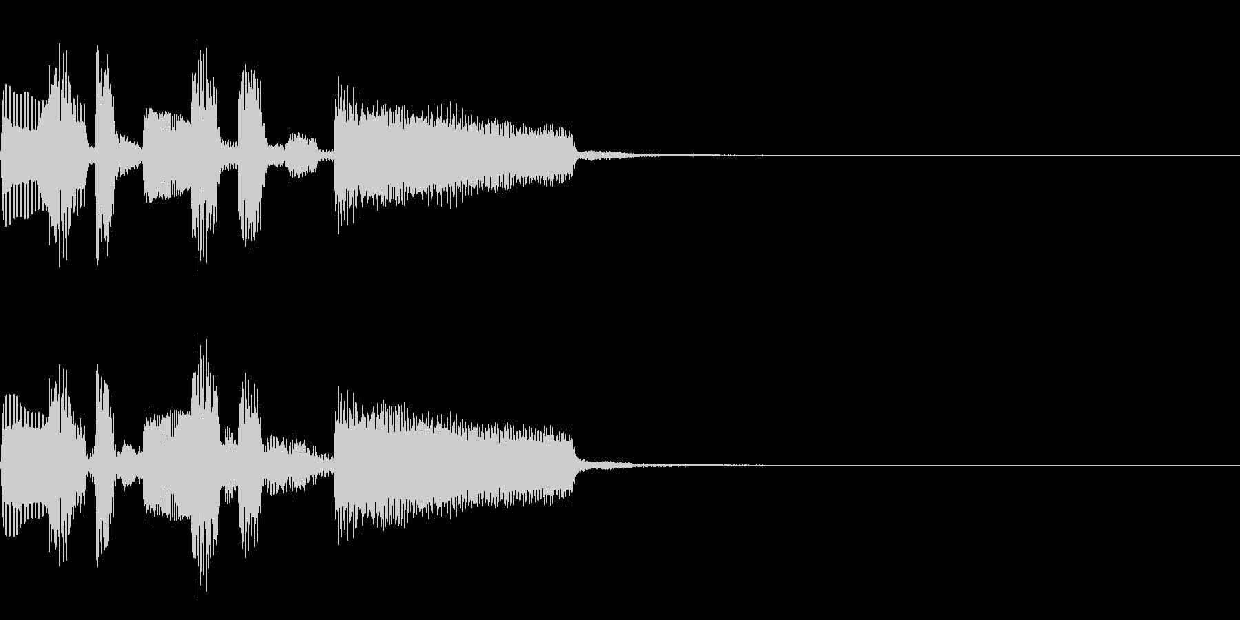 おしゃれなコードの短いジングルの未再生の波形
