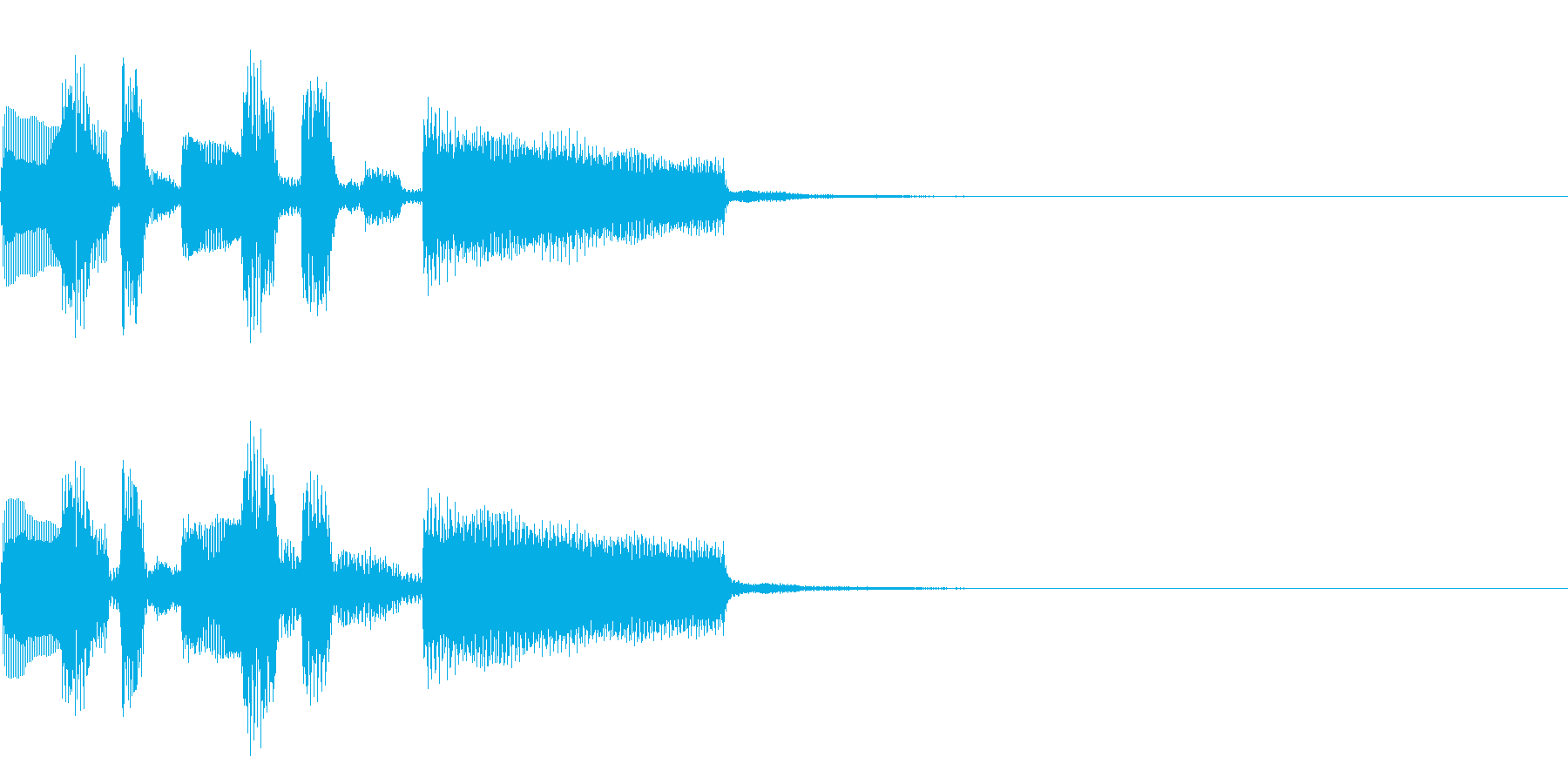 おしゃれなコードの短いジングルの再生済みの波形