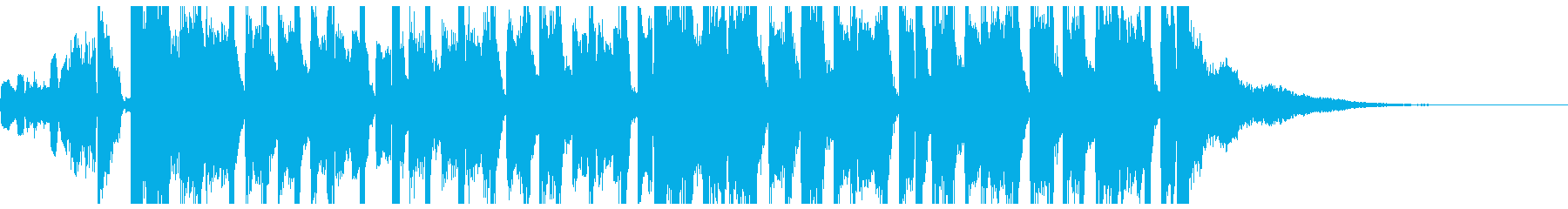 ファンキーで弾みあるエレクトロジングルの再生済みの波形