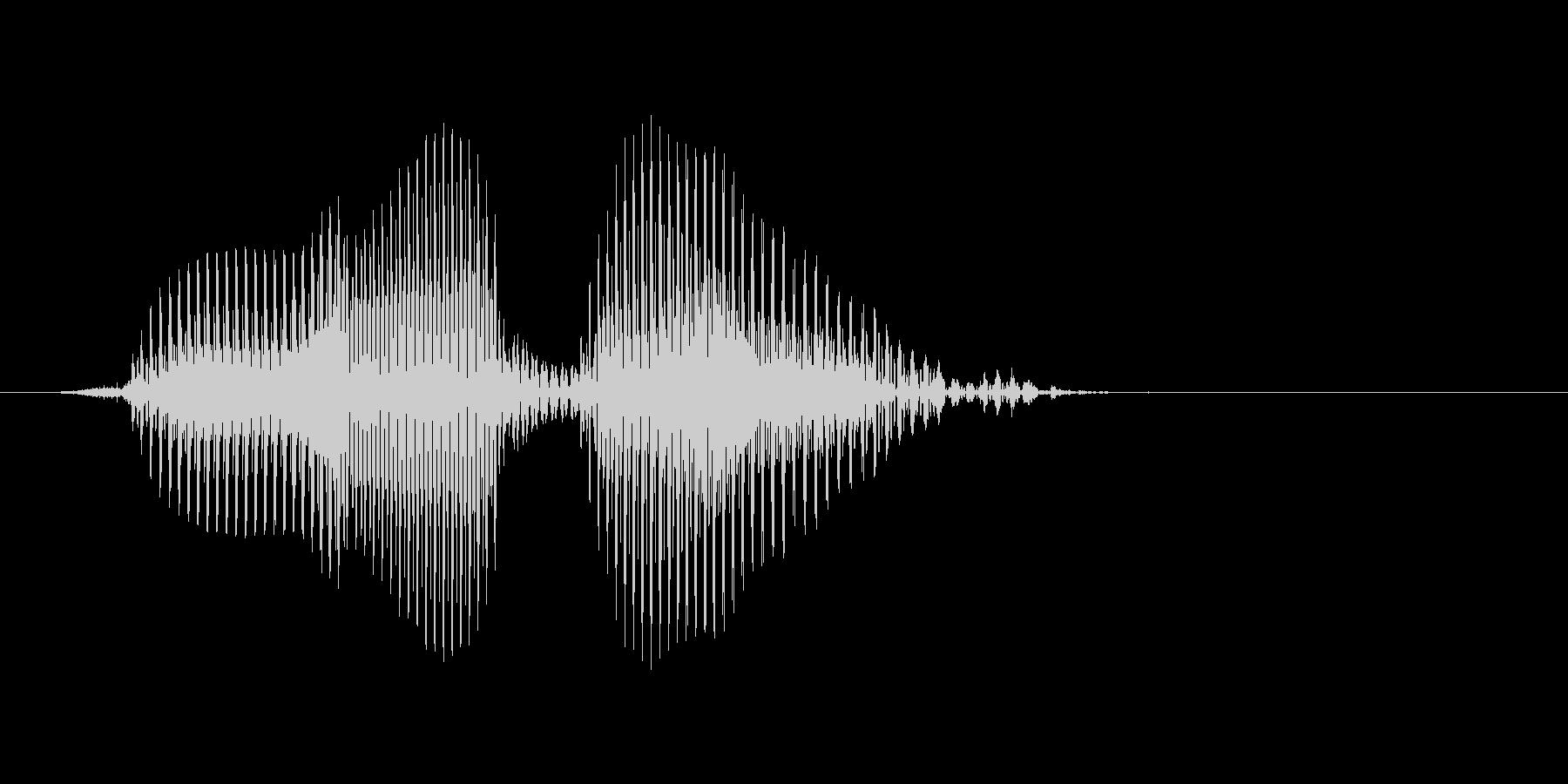 フォアボールの未再生の波形