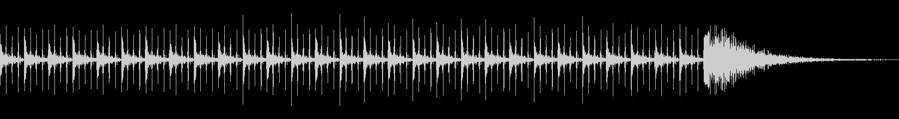 カウントダウン効果音(30秒)の未再生の波形