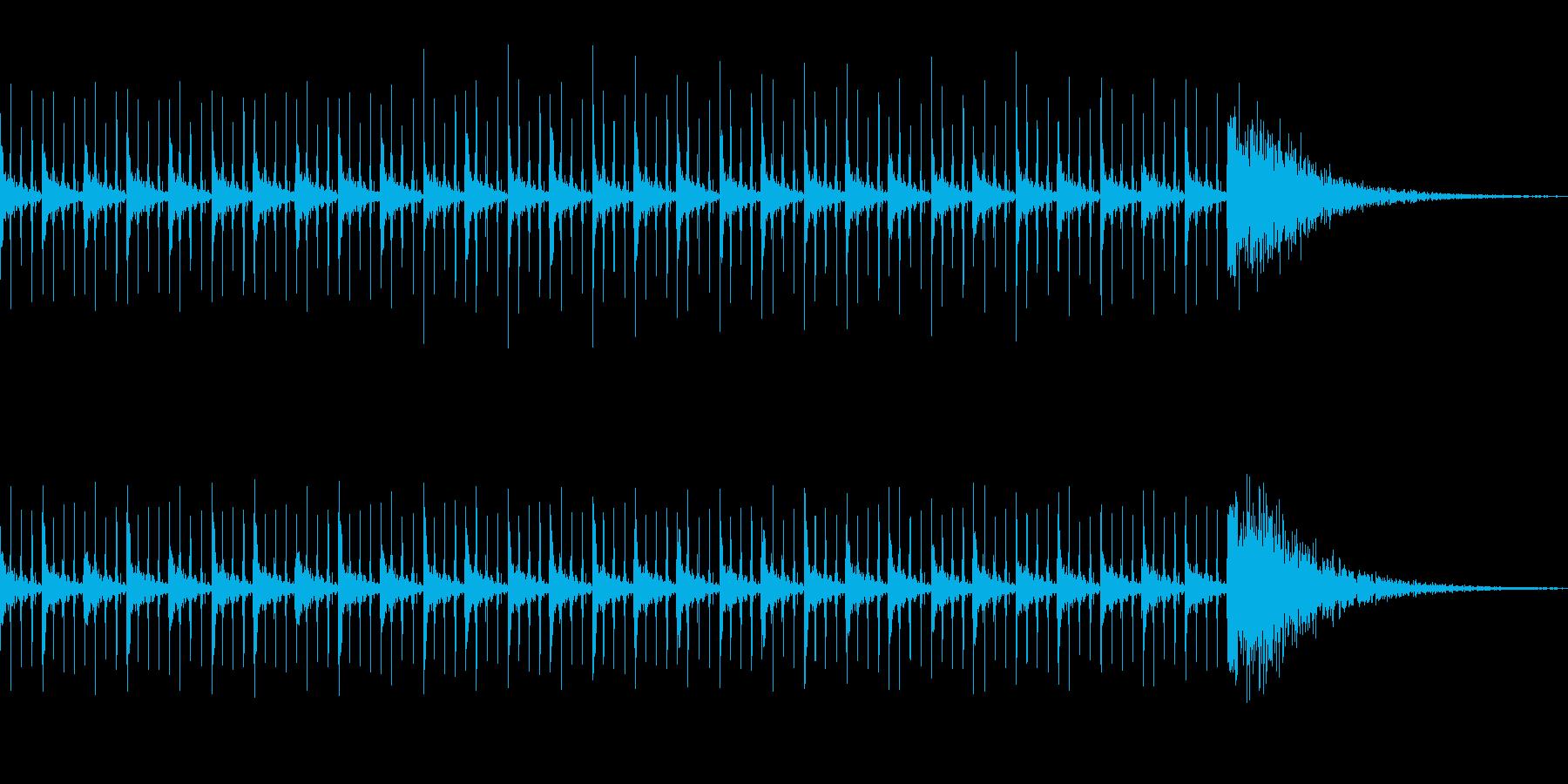 カウントダウン効果音(30秒)の再生済みの波形