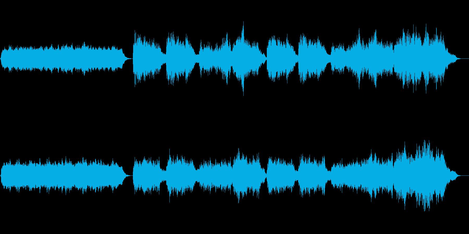 コラール 1番の再生済みの波形
