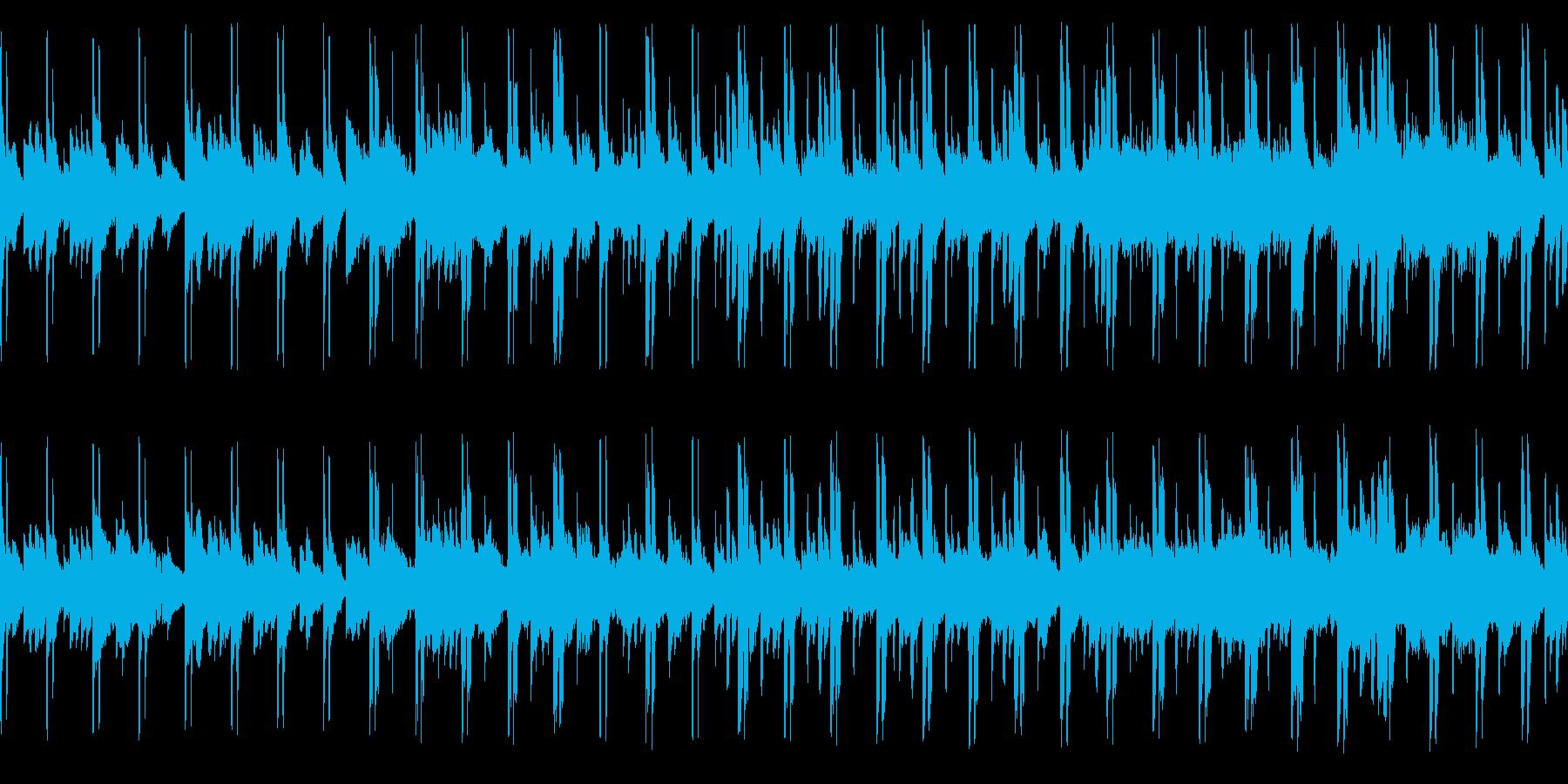 教会旋法ドリアを使った独特の響きです。の再生済みの波形