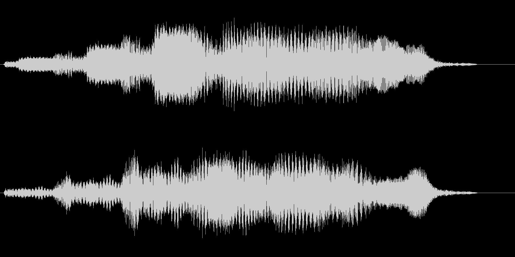 コミカル飛行音(宇宙人の道具の様な音)の未再生の波形