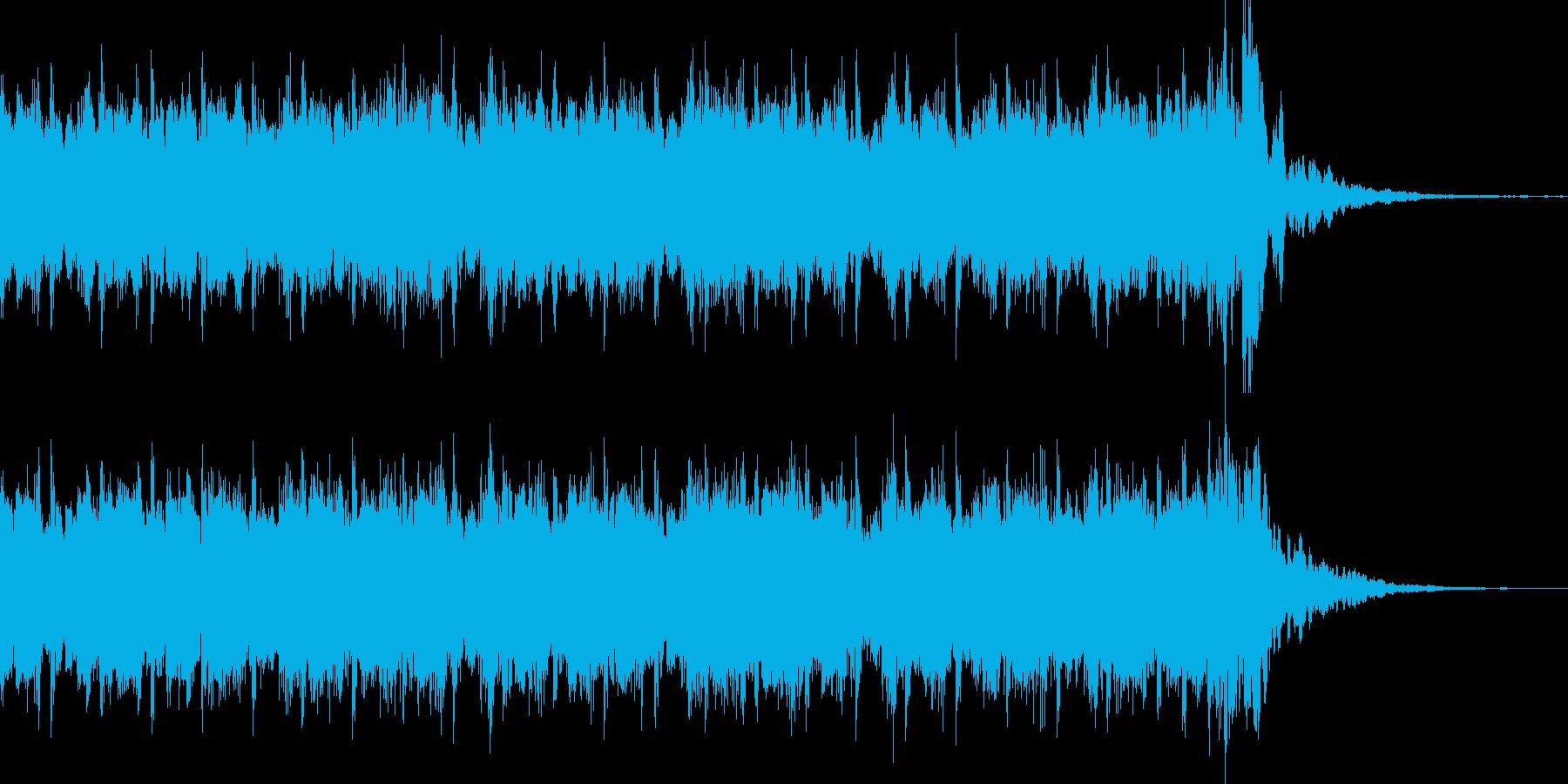 わくわくするポップス風BGMの再生済みの波形