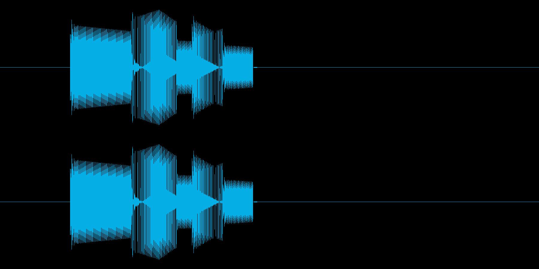 RPGゲーム・攻撃・ミス・空振り・低音の再生済みの波形