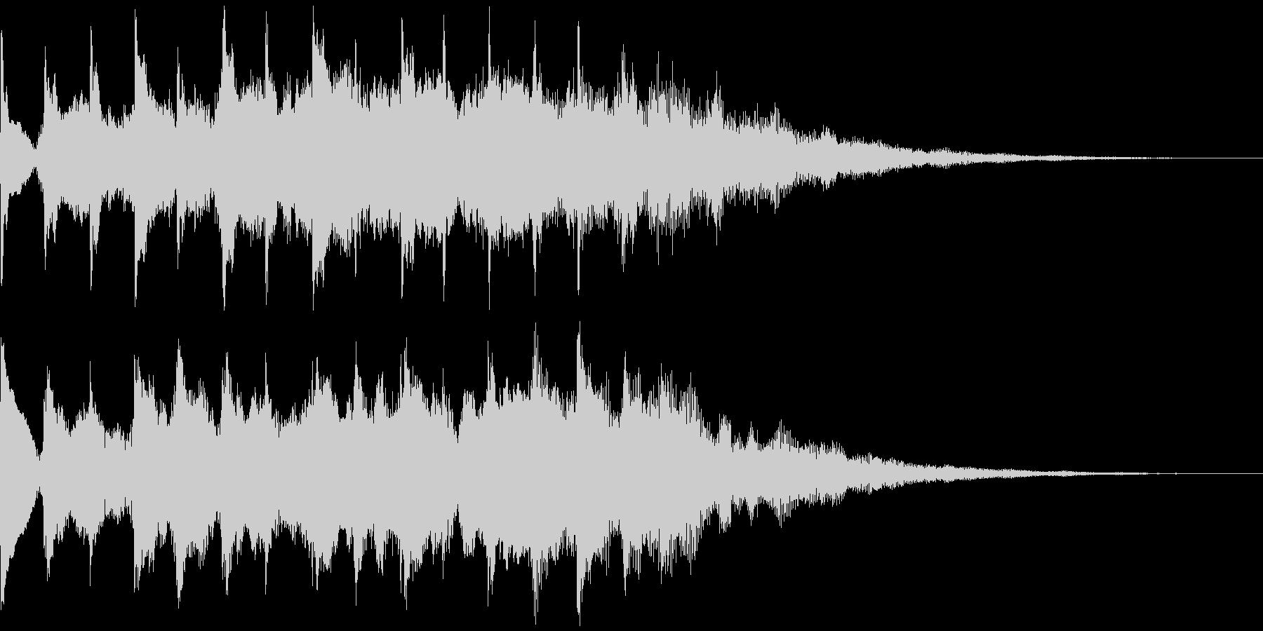 サウンドロゴ、5秒CM、場面転換verBの未再生の波形