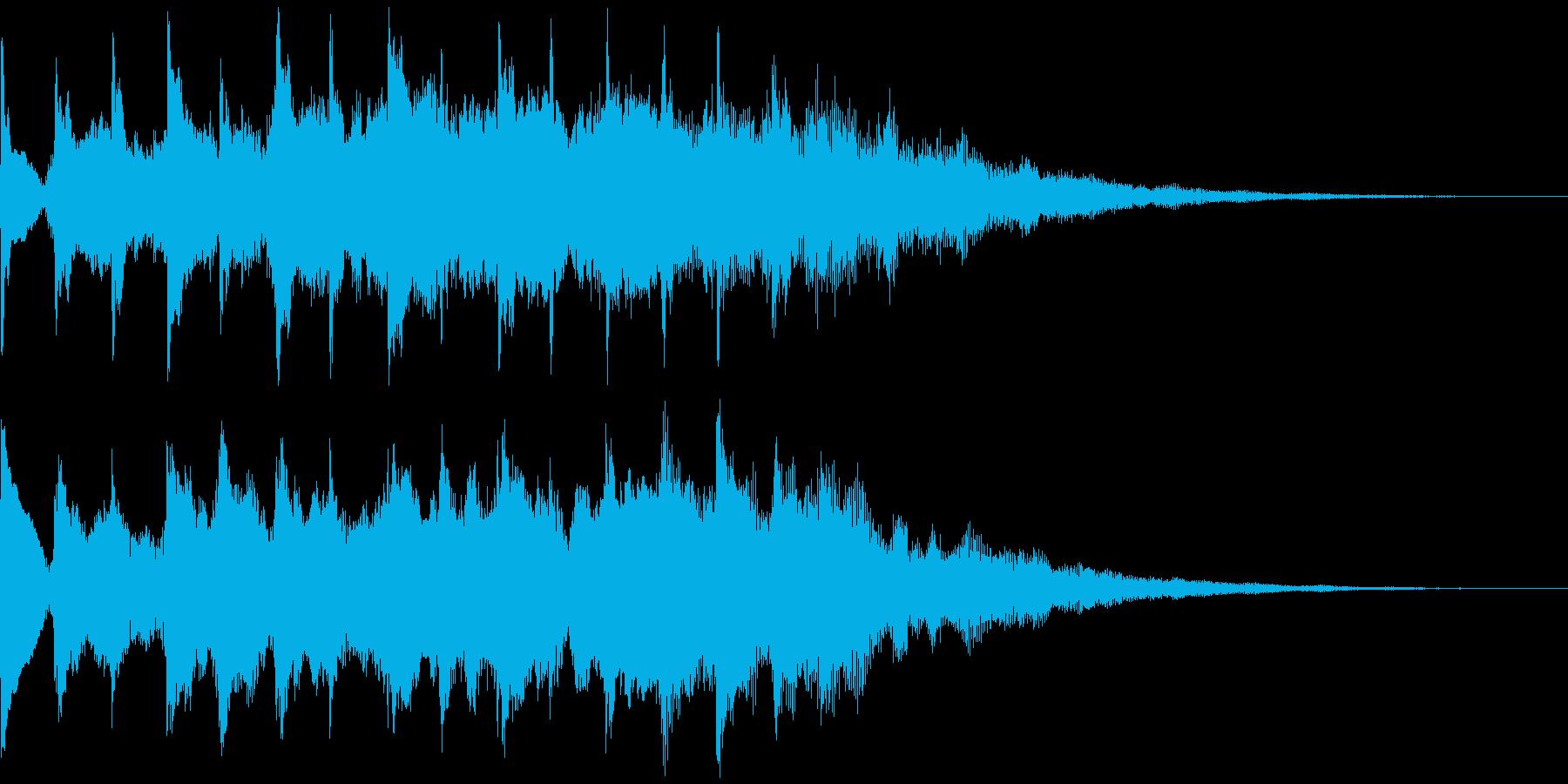 サウンドロゴ、5秒CM、場面転換verBの再生済みの波形