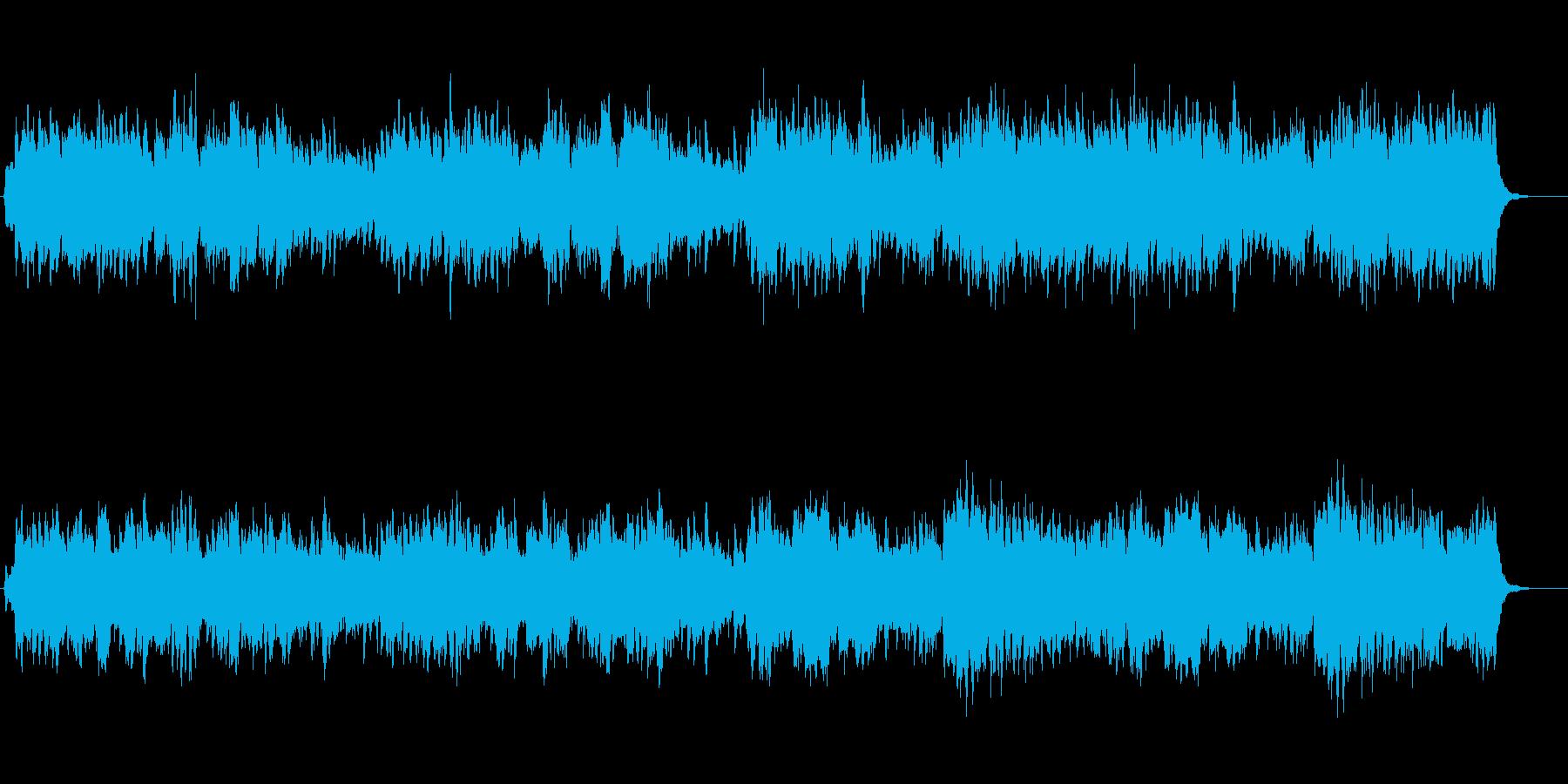 癒されるピアノとフルートの再生済みの波形