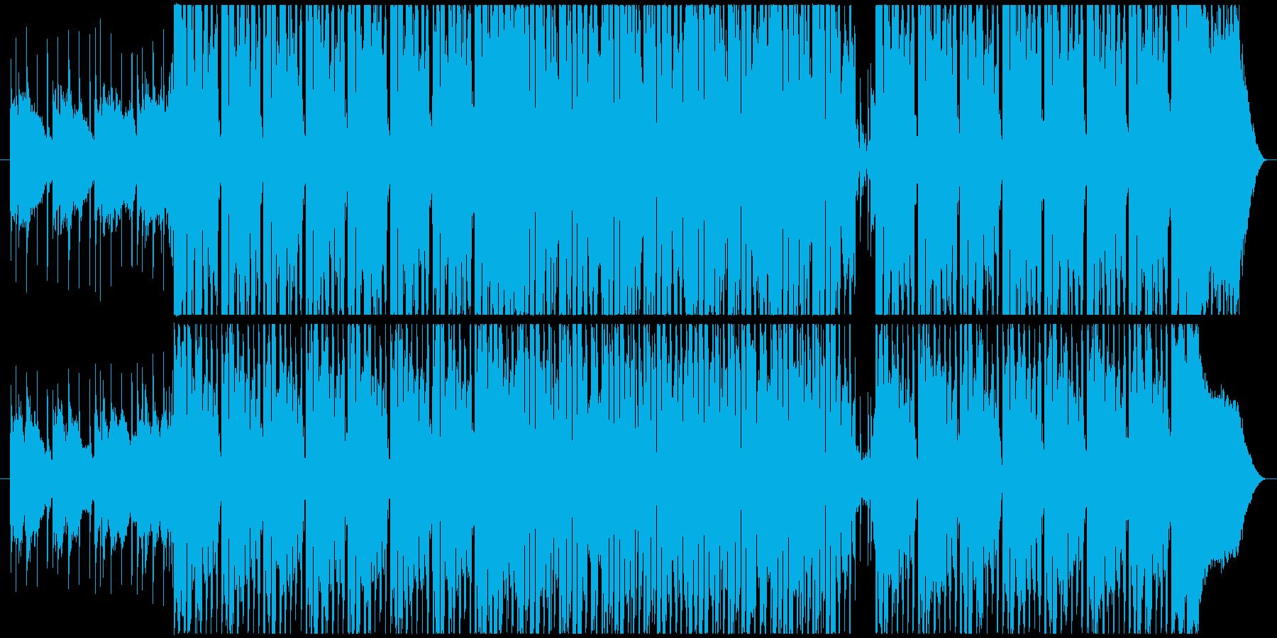 かわいくて元気な4つ打ちシンセポップの再生済みの波形