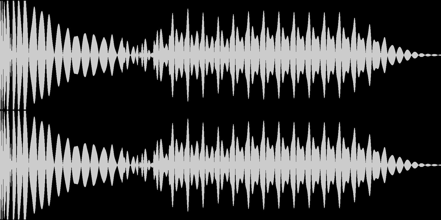 EDMキック キーAの未再生の波形