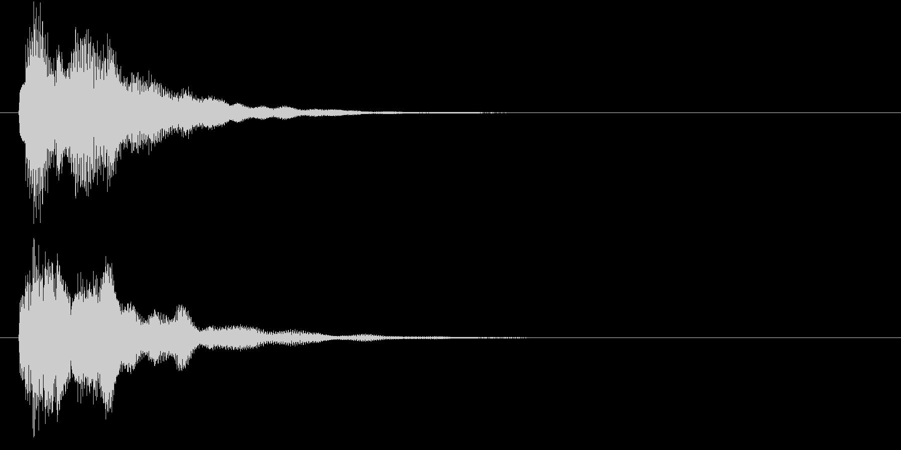 シンセエレピ音で、G-minのコード一発の未再生の波形