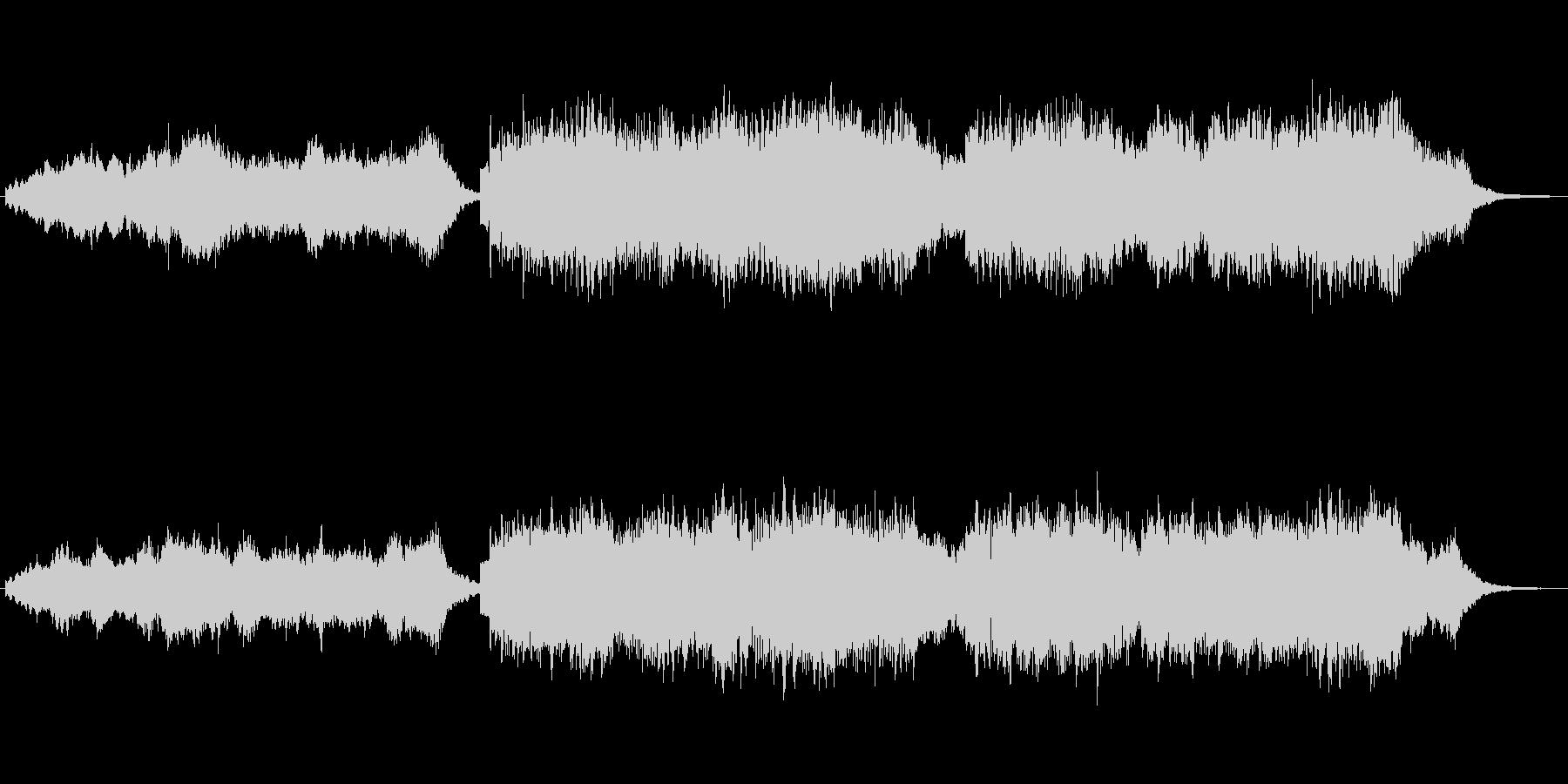 キラキラシンセと笛のほのぼのしたジングルの未再生の波形