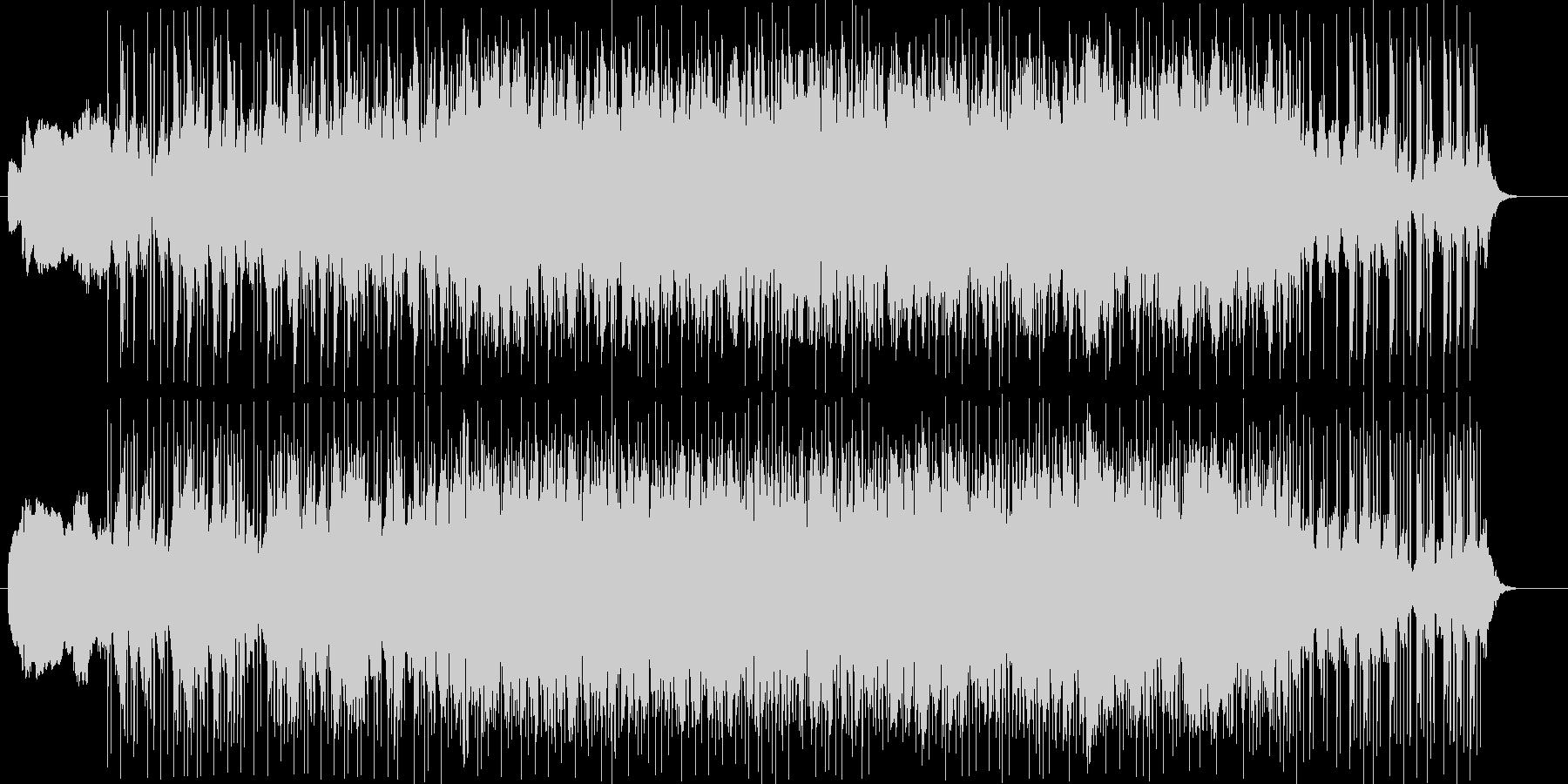 不安渦巻く音の未再生の波形