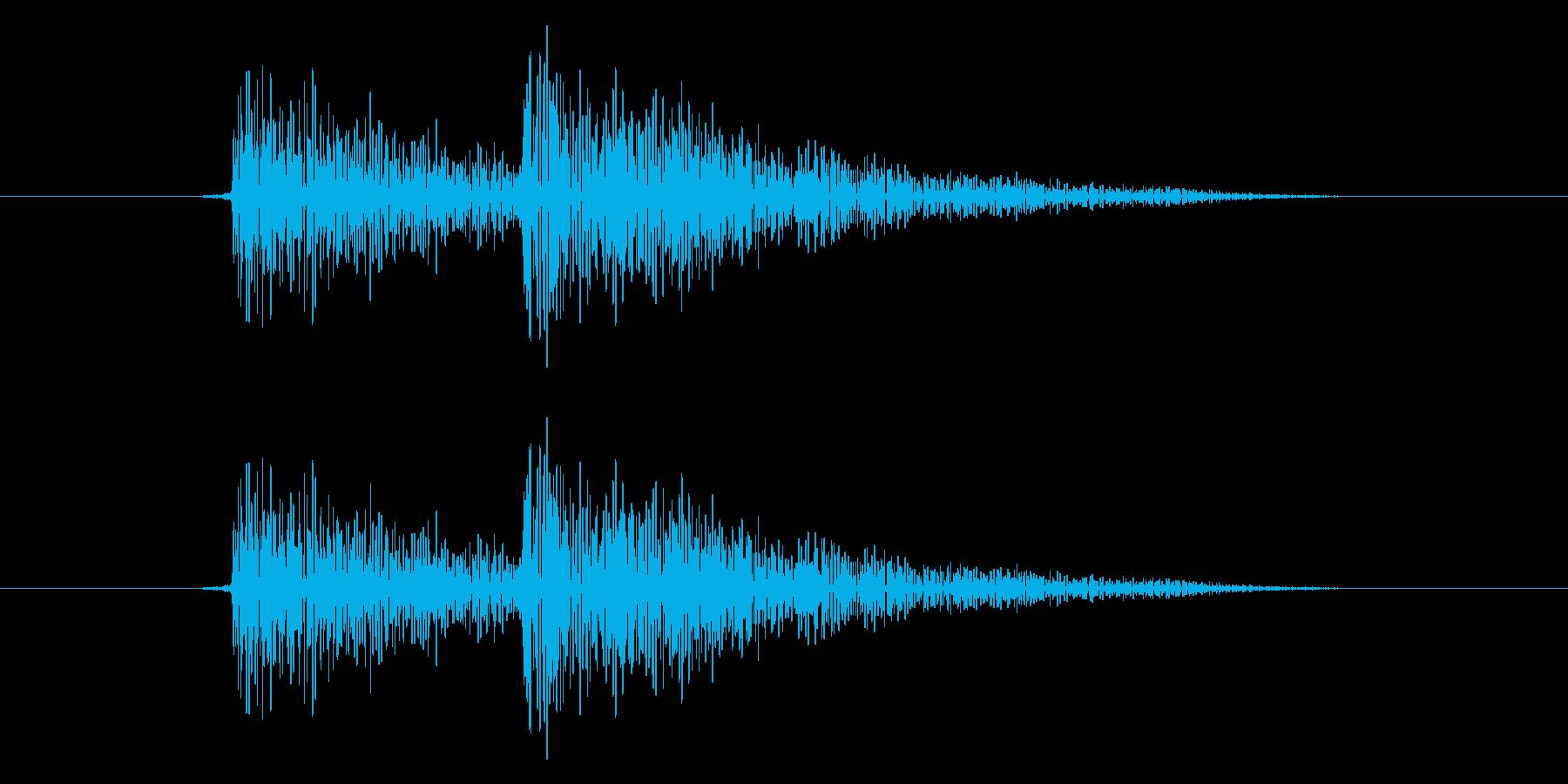 テレの再生済みの波形