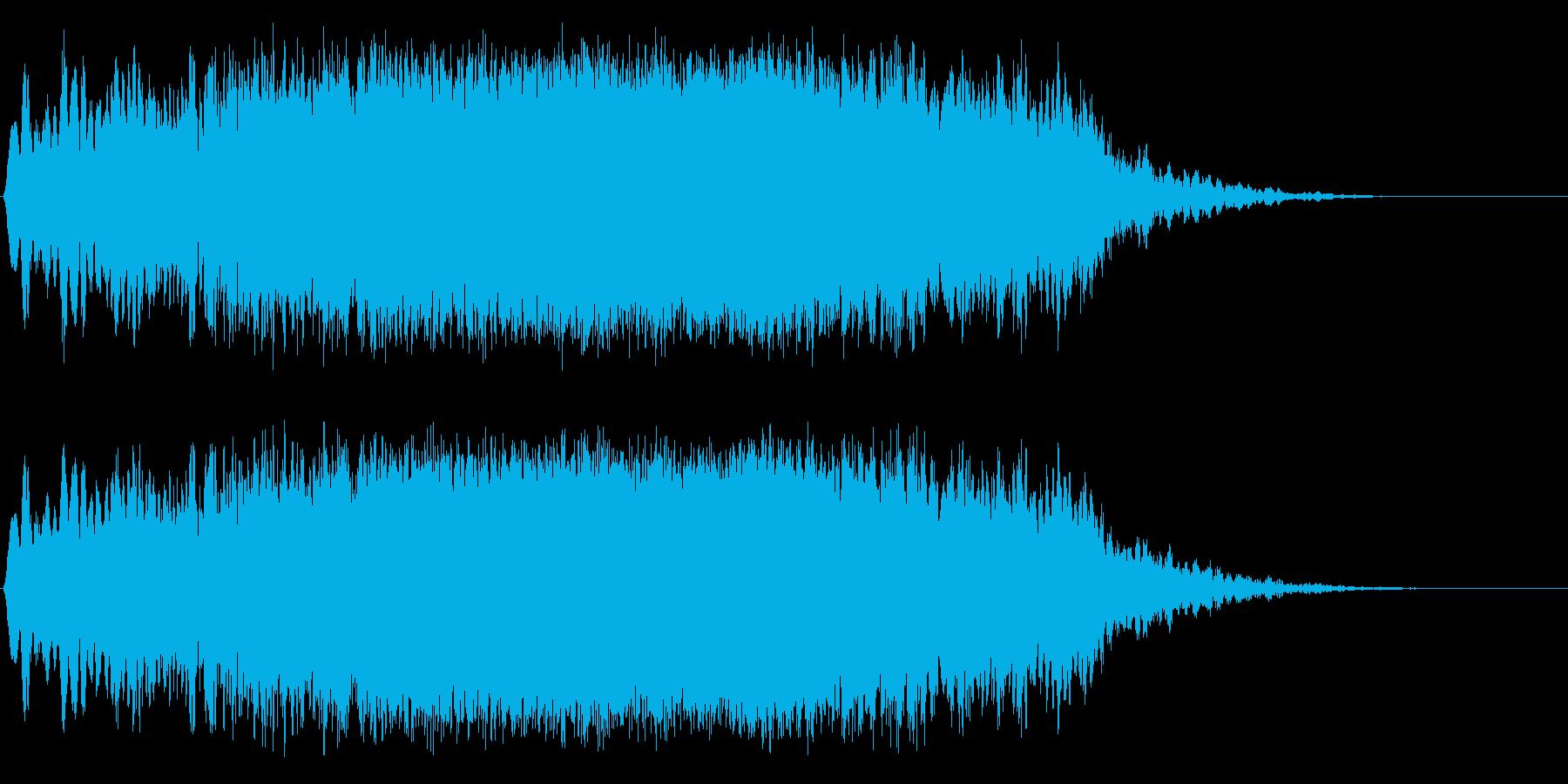 宇宙船のワープ音の再生済みの波形