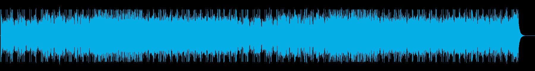 スリリングで疾走感のあるテクノBGMの再生済みの波形