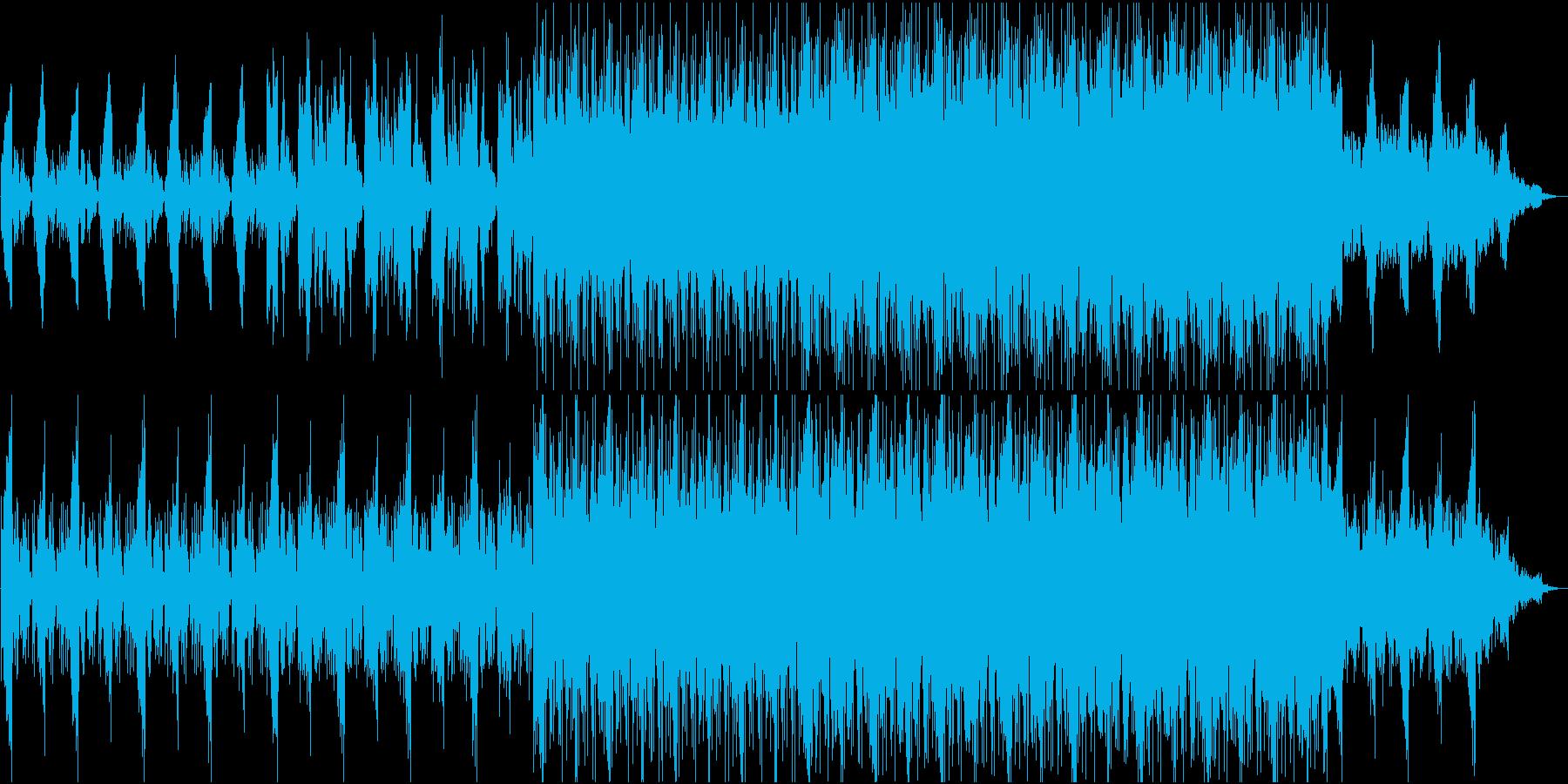 ホラー、緊迫した場面などに合う曲の再生済みの波形