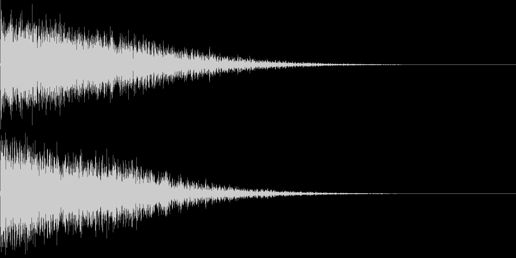 大爆発音01の未再生の波形