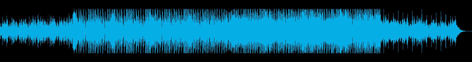 疾走感のあるピアノシンセサイザーサウンドの再生済みの波形