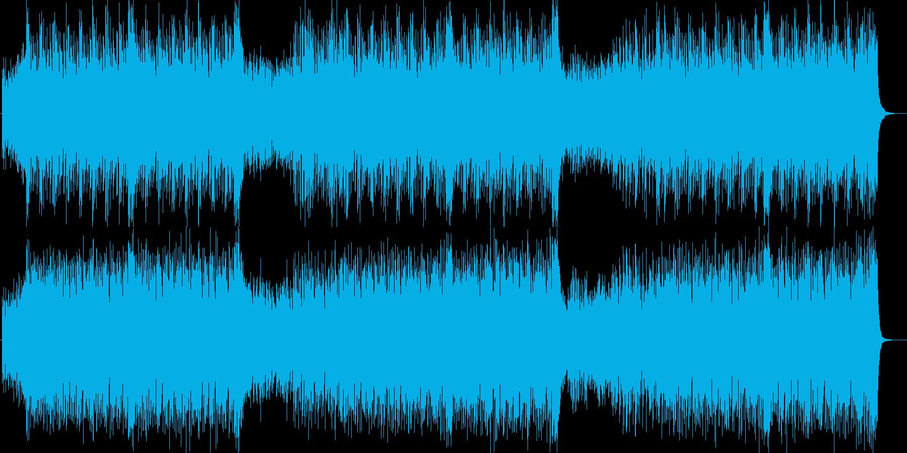 シンセが80年代風の宇宙的サウンドの再生済みの波形