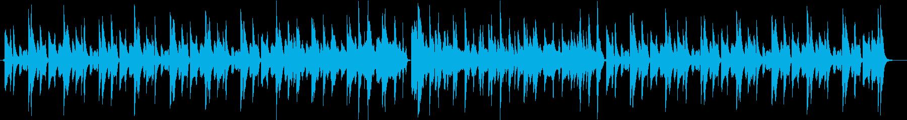 ほのぼの系動画用ループBGMの再生済みの波形