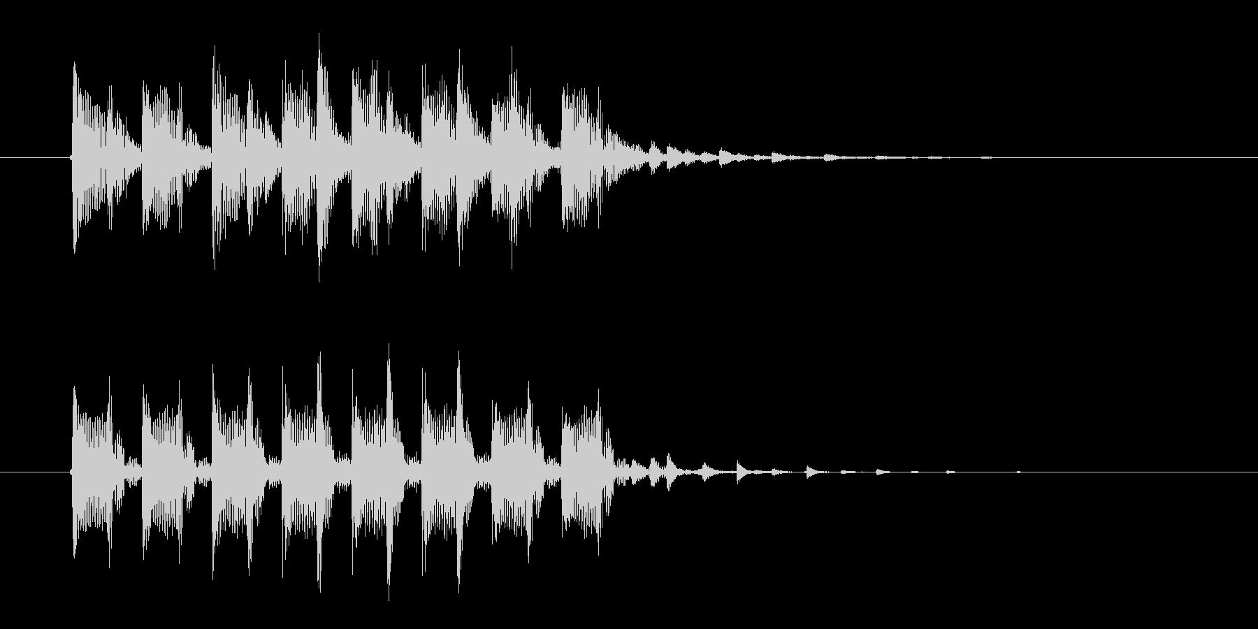 クールで暗めなテクノポップスのジングル曲の未再生の波形