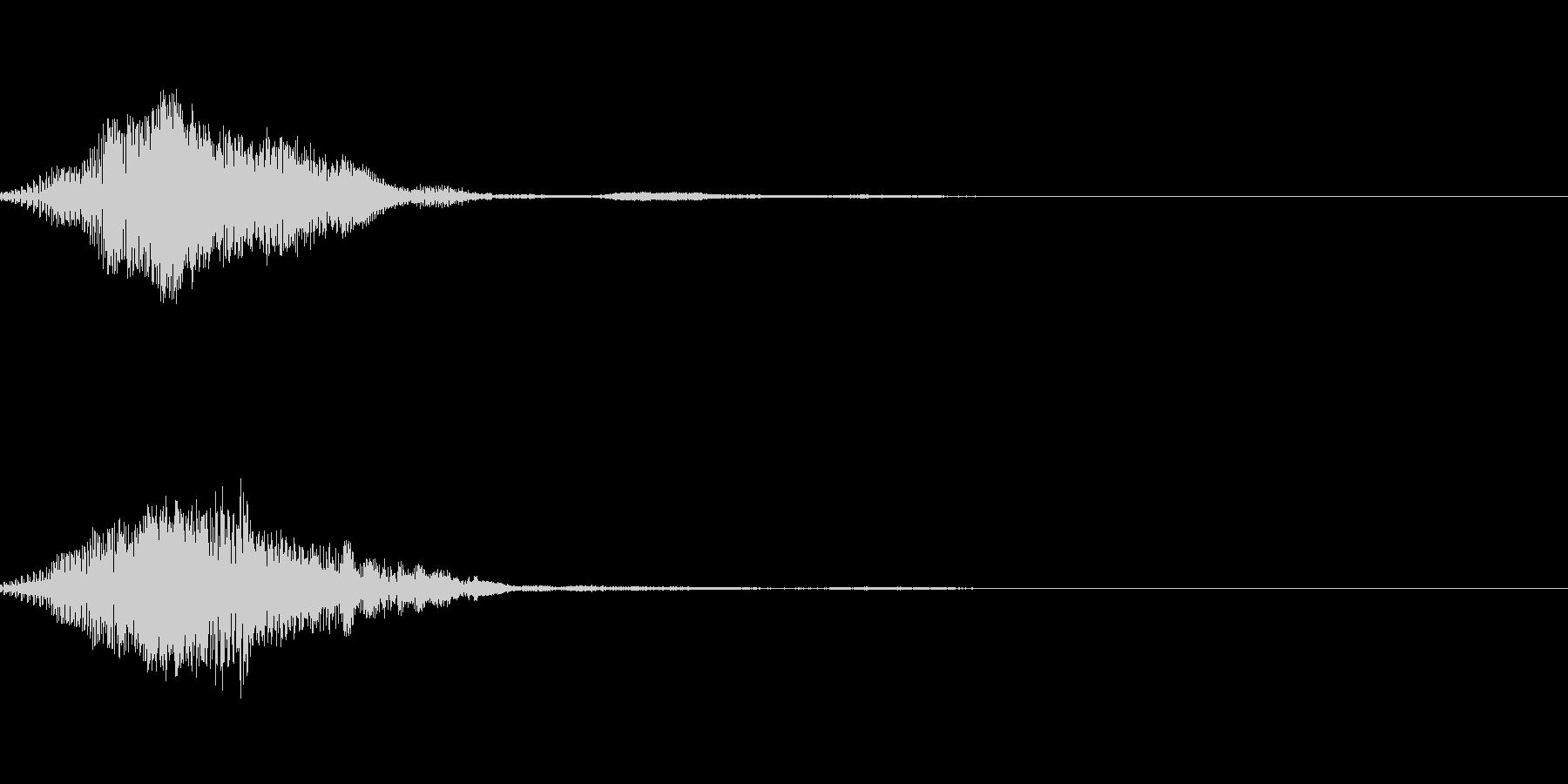 ファンタジーなボタン音の未再生の波形