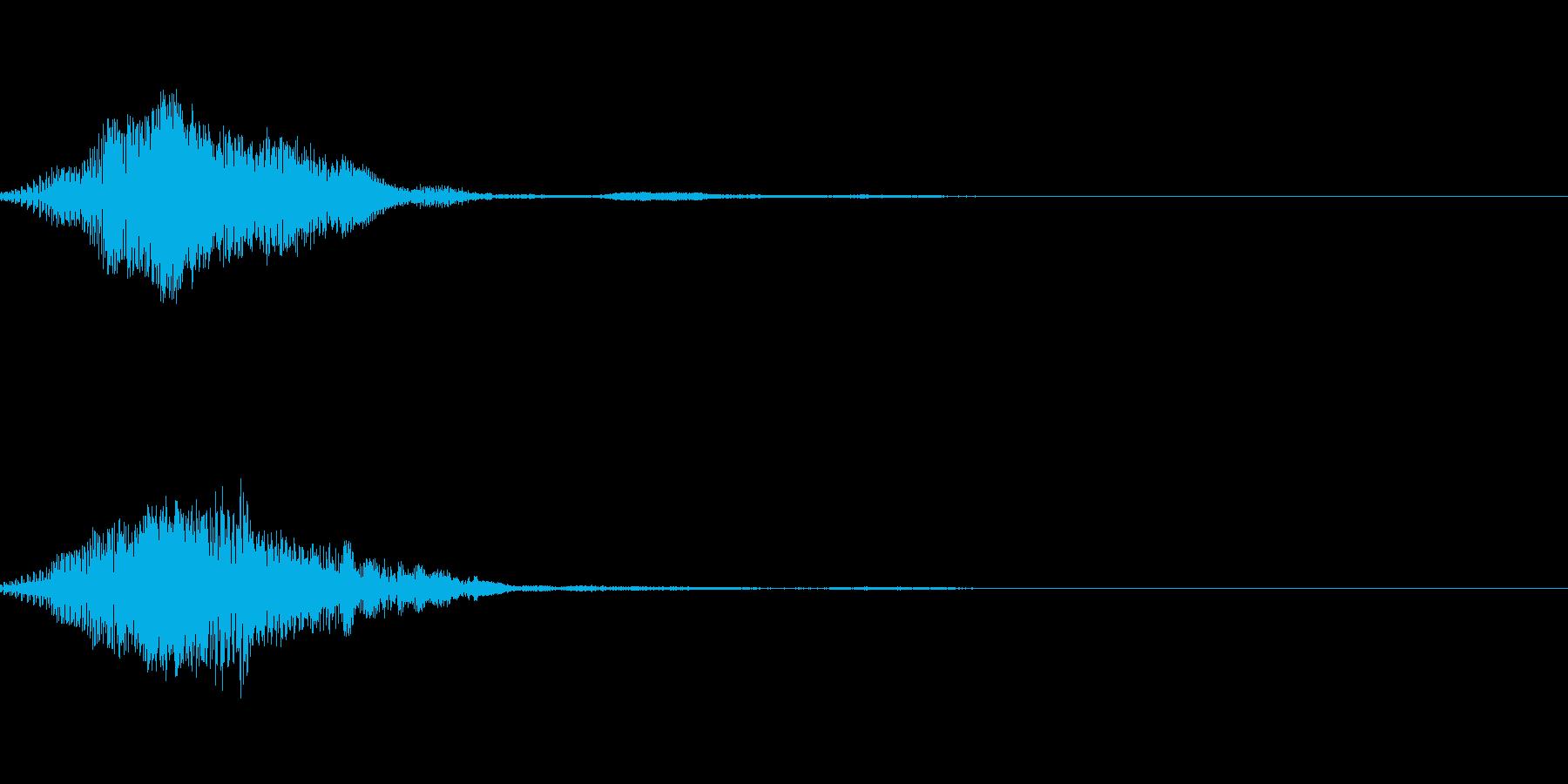 ファンタジーなボタン音の再生済みの波形