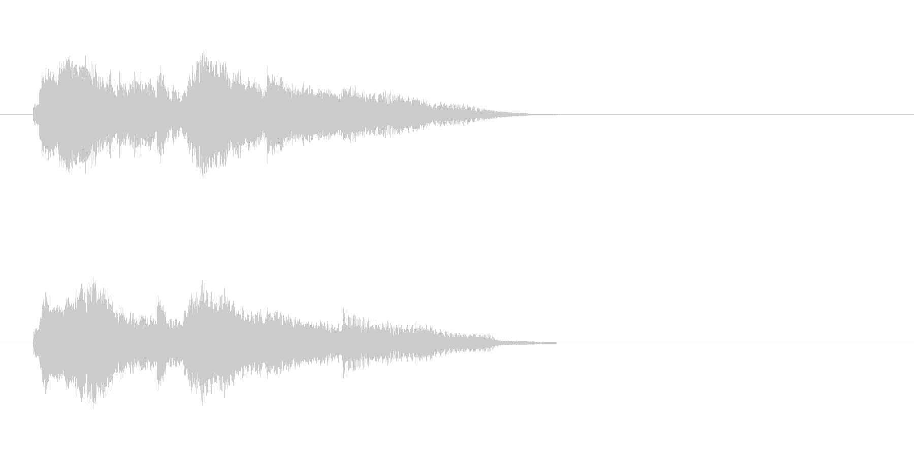 ジングル(SE)の未再生の波形