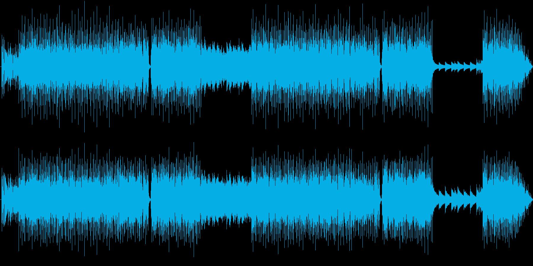 疾走感のあるフュージョン曲の再生済みの波形
