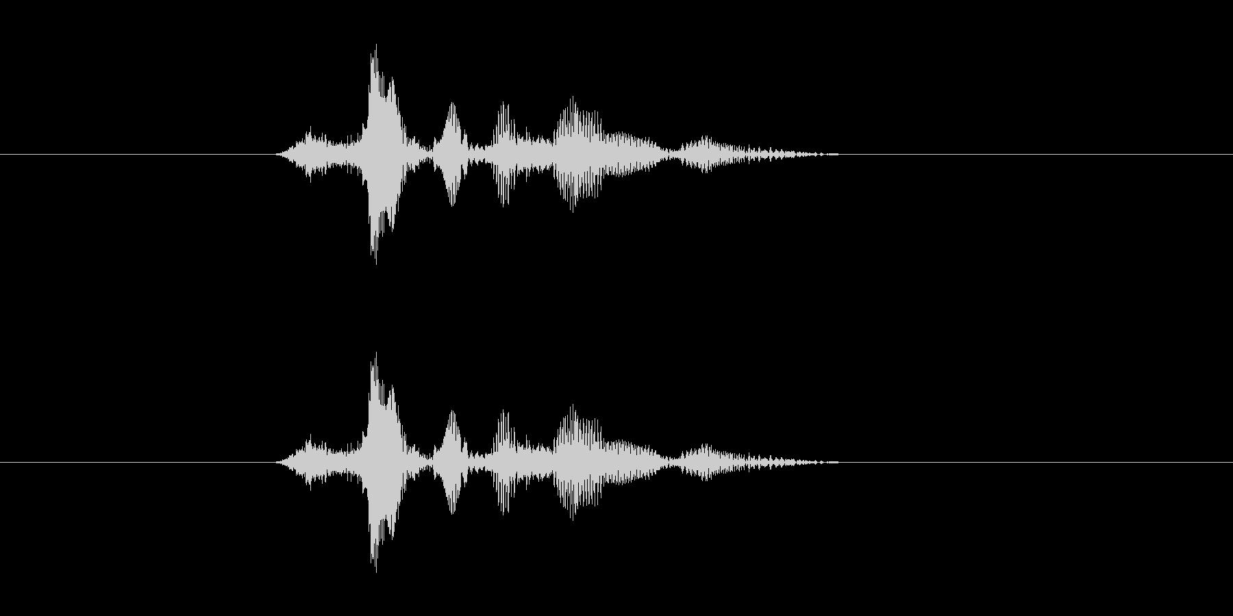 サクダソンドゥンの未再生の波形