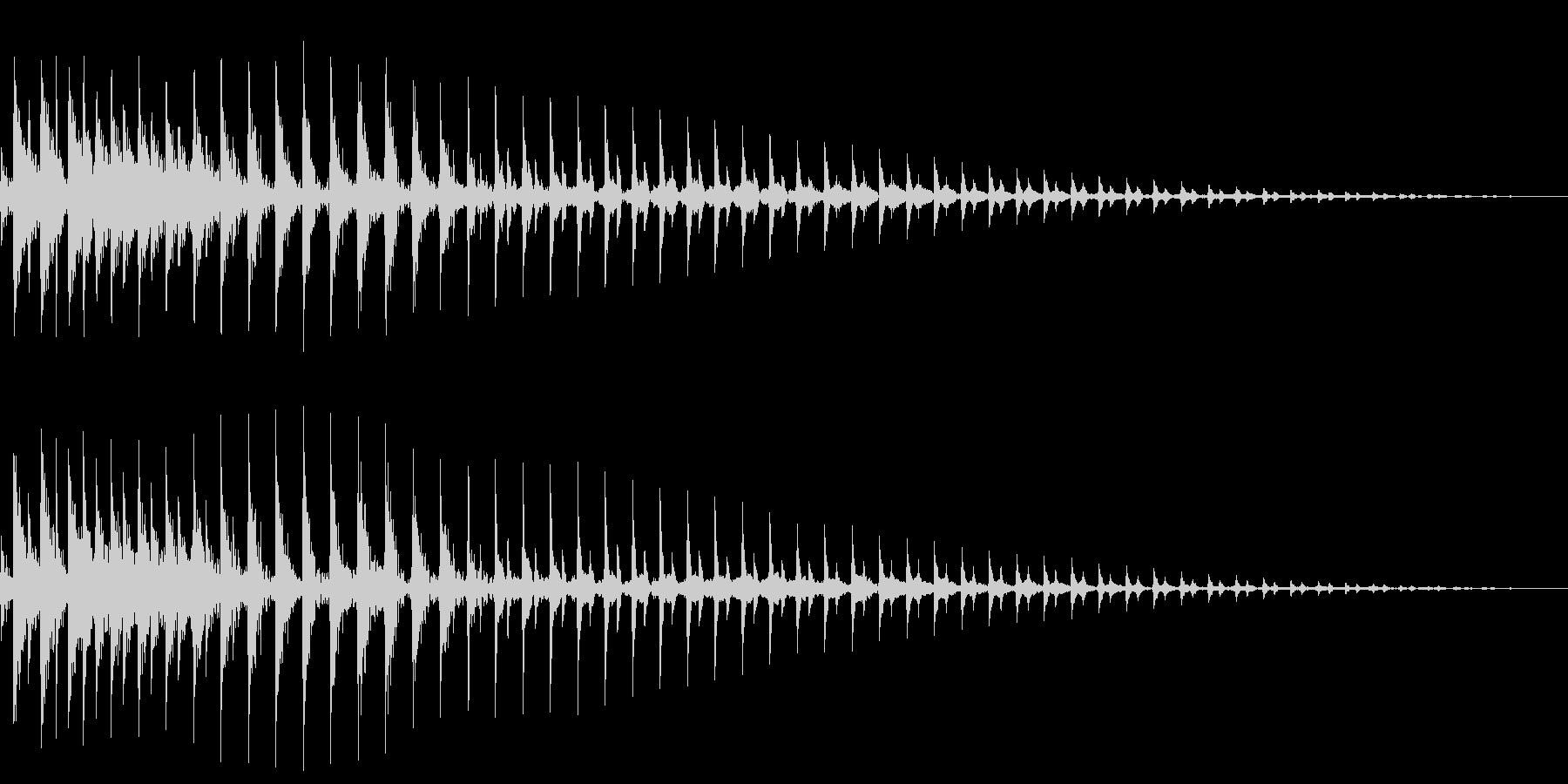 ボヨーンと伸びるの未再生の波形