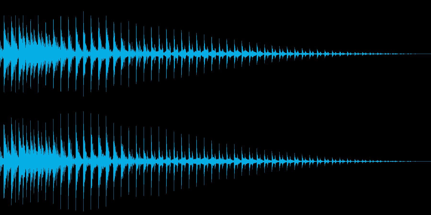 ボヨーンと伸びるの再生済みの波形