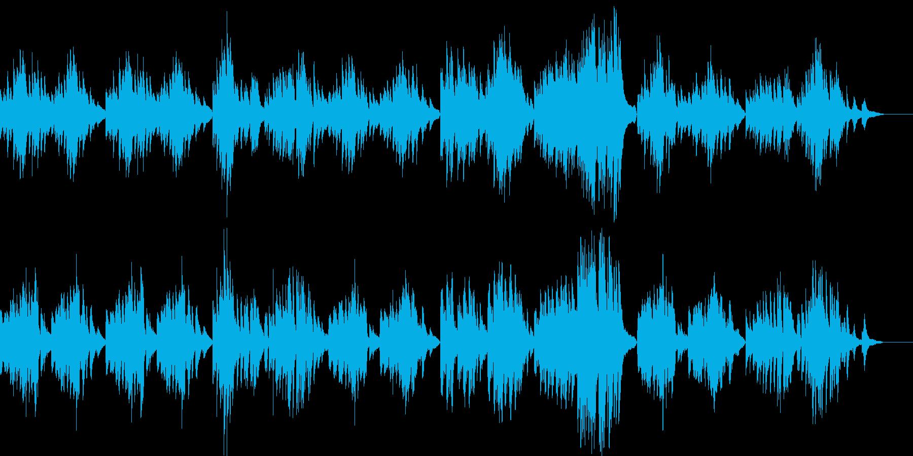 穏やかでやさしいクラシックピアノの再生済みの波形