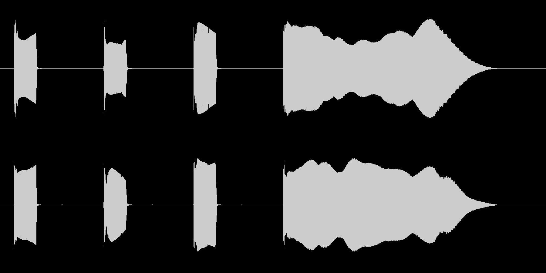 カウントダウン効果音 低めなシンセ 開始の未再生の波形