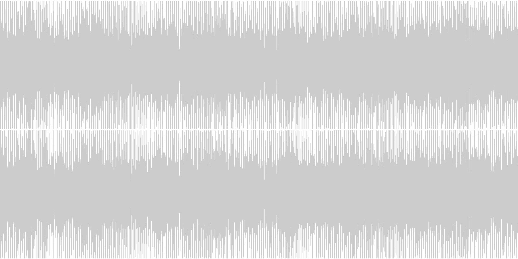 深刻な雰囲気のエレクトロニックなループの未再生の波形