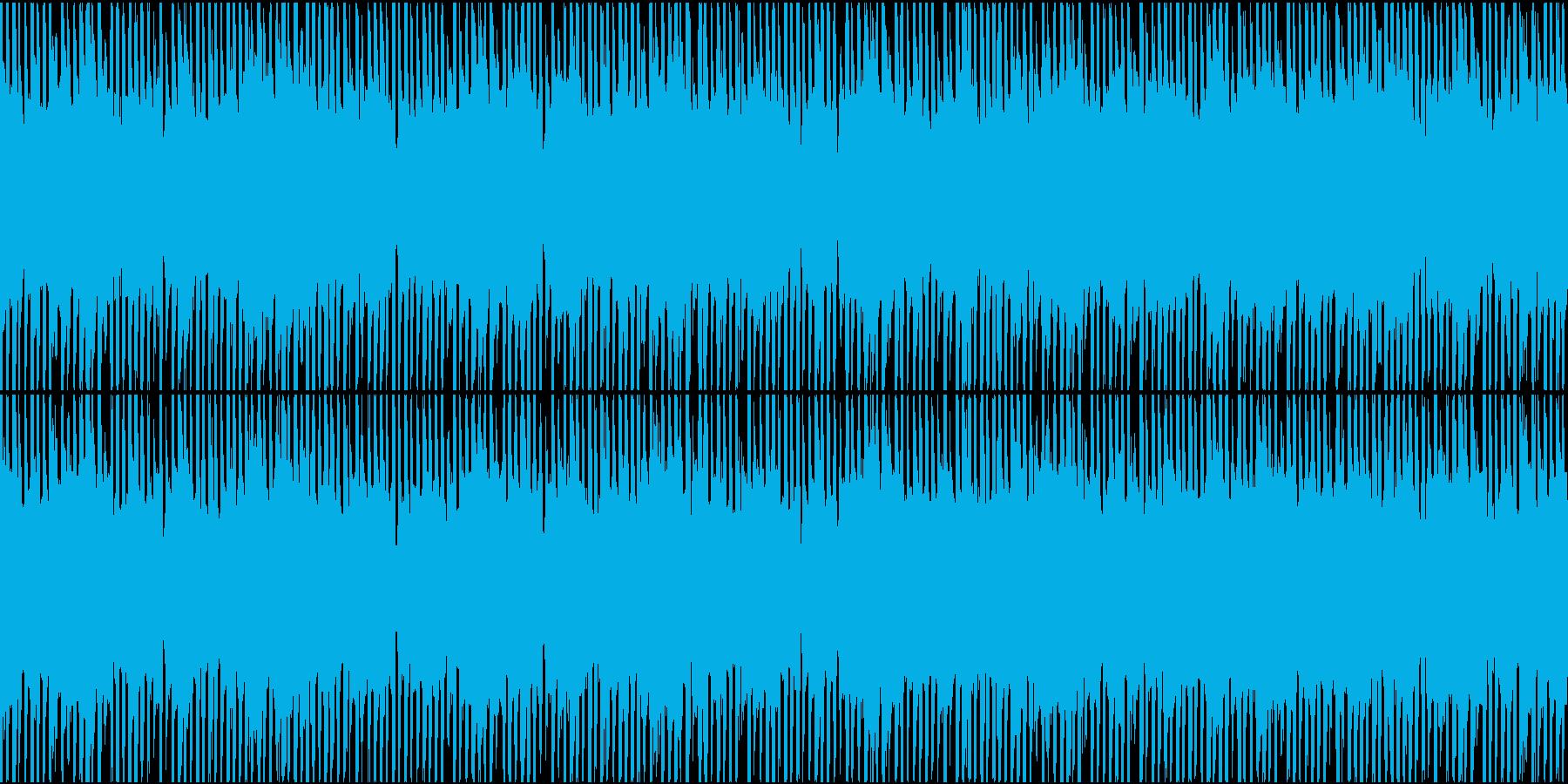 深刻な雰囲気のエレクトロニックなループの再生済みの波形