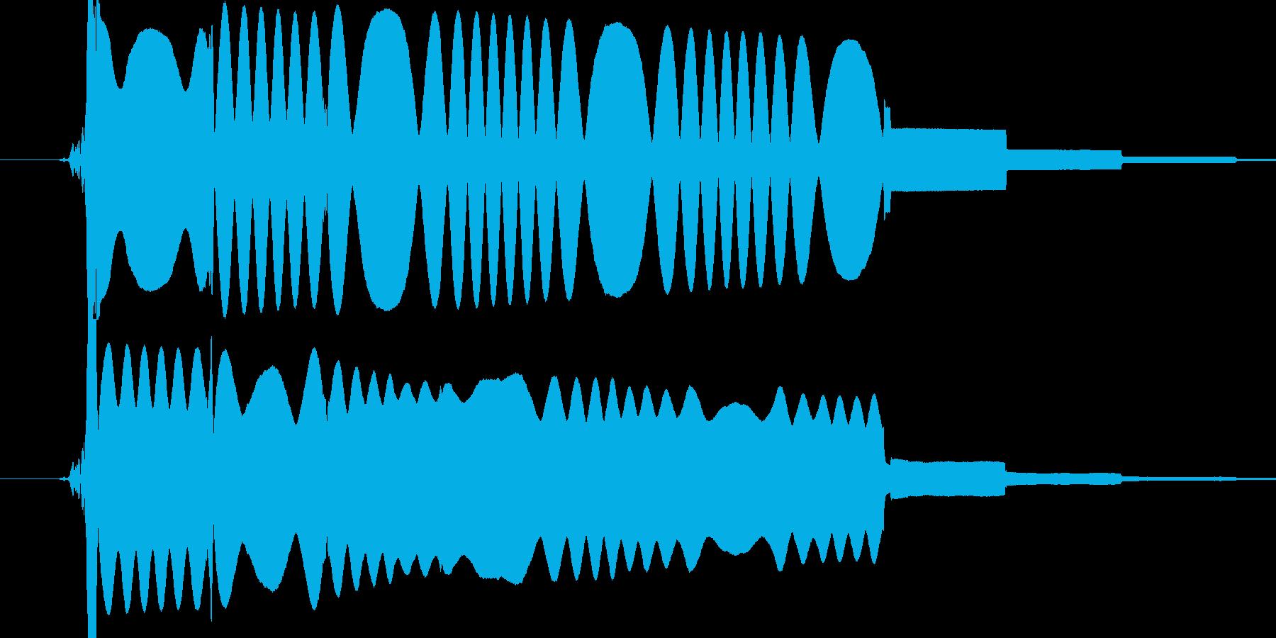 人工的な電波の音です。の再生済みの波形