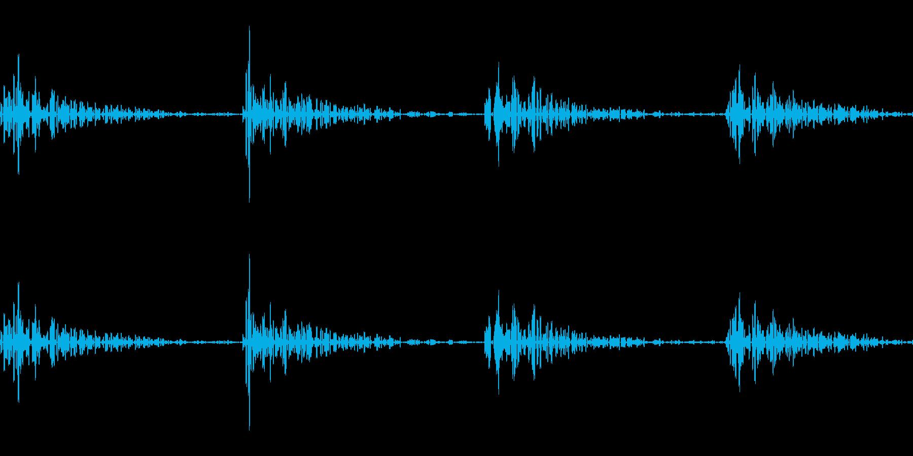 ファミコンの階段の音の再生済みの波形