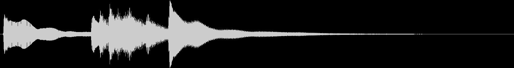 お正月の定番曲「春の海」から冒頭フレーズの未再生の波形