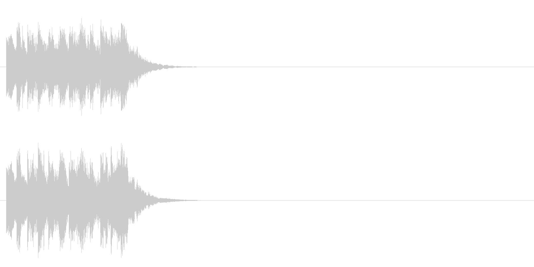 出題〜考え中のコミカルなジングルの未再生の波形