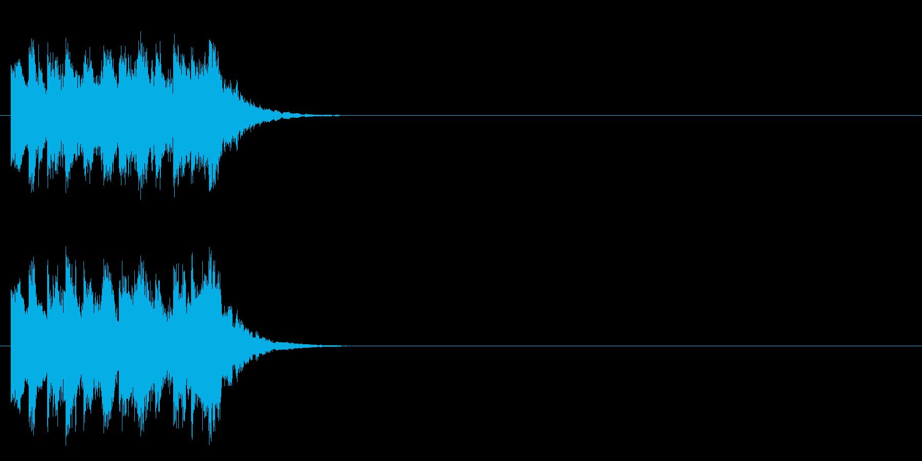 出題〜考え中のコミカルなジングルの再生済みの波形