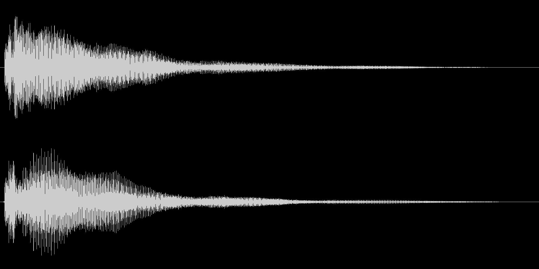 ポワ〜ン(スチールドラム系)の未再生の波形