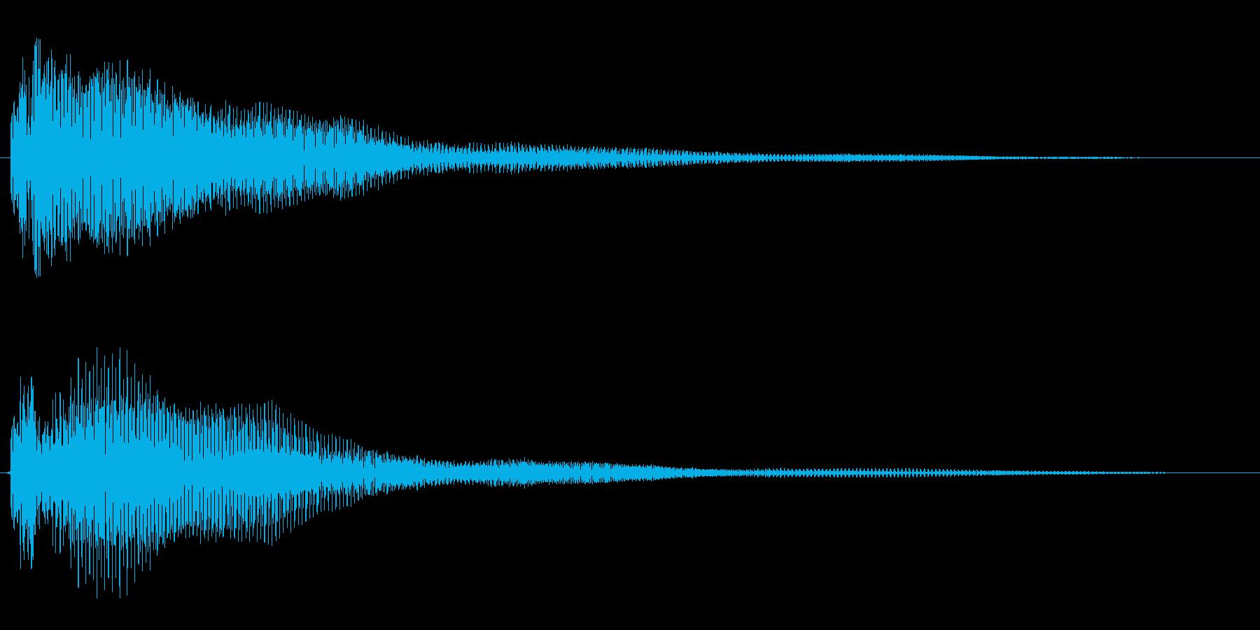 ポワ〜ン(スチールドラム系)の再生済みの波形