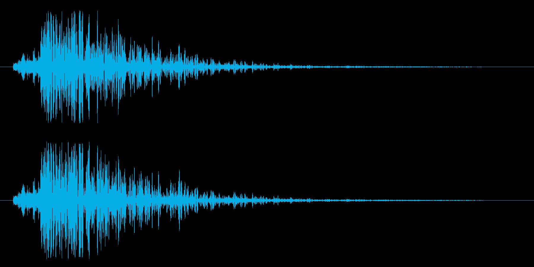 雷のような衝撃音「ドン!」の再生済みの波形