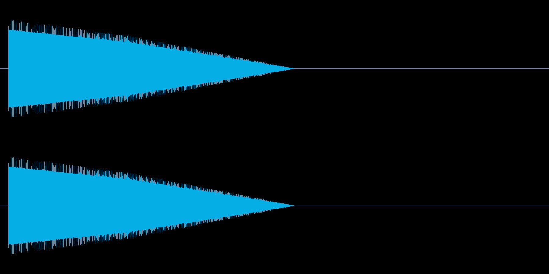 レトロゲーム風・モンスターの鳴き声#4の再生済みの波形